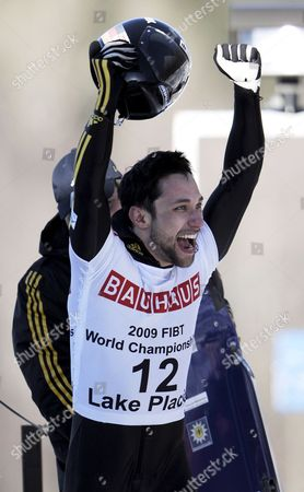Michi Halilovic of Germany Reacts After the Men's Skeleton at the Fibt Bobsleigh & Skeleton World Championships in Lake Placid New York Usa 28 February 2009 Halilovic Finished in Fifth Place