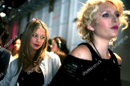 Models Prepare For the Kelly Nishimoto Show Backstage at the Los Angeles Mercedes-benz Fashion Week in Los Angeles California Usa 09 March 2008 This Year's Fall Season Showcases Over Twenty Designers the Los Angeles Fashion Week Fall 2008 is Scheduled For 09 to 13 March 2008
