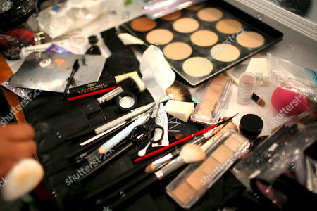 A Makeup Artist's Gear Awaits Another Model Before the Kelly Nishimoto Show Backstage at the Los Angeles Mercedes-benz Fashion Week in Los Angeles California Usa 09 March 2008 This Year's Fall Season Showcases Over Twenty Designers the Los Angeles Fashion Week Fall 2008 is Scheduled For 09 to 13 March 2008