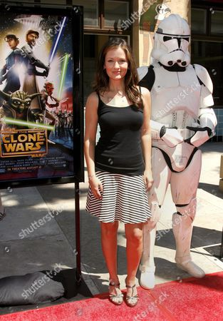 Us Actress Catherine Taber Arrives For the Premiere of 'Star Wars: the Clone Wars' in Los Angeles California Usa 10 August 2008 Taber Voices the Padme Amidala Character in 'Star Wars: the Clone Wars' the First Ever Animated Feature From Lucasfilm Aniimation