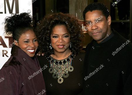 Paulette Washington (l) Us Television Personality Oprah Winfrey (c) and Us Actor Denzel Washington (r) Arrive For the Film Premiere of 'The Great Debaters' in Los Angeles California Usa 11 December 2007 'The Great Debaters' is a True Story Based On a Group of Students From a Modest Black College in East Texas Who Become an Elite Debate Team