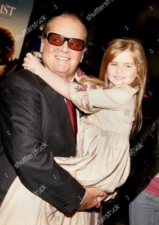 Us Actor Jack Nicholson (l) and Actress Taylor Ann Thompson (r) at the Film Premiere of 'The Bucket List' in Los Angeles California Usa 16 December 2007 'The Bucket List' is the Story of Two Terminally Ill Men (jack Nicholson and Morgan Freeman) Who Escape From a Cancer Ward and Embark On a Road Trip to Do All of the Things They Ever Wanted to Do Before They Die