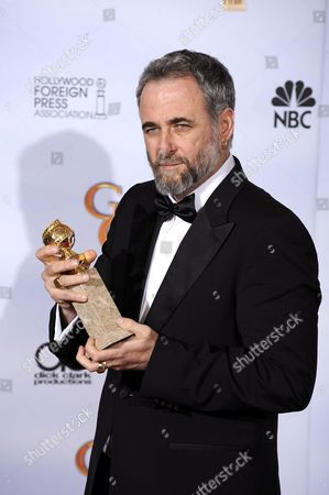 Israeli Director Ari Folman Holds the Golden Globe For Best Foreign Language Film For His Work On 'Waltz with Bashir' at the 66th Annual Golden Globe Awards at the Beverly Hilton Hotel in Beverly Hills California Usa 11 January 2009 the Golden Globes Honour Excellence in Film and Television