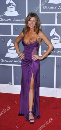 Stock Image of Us Actress Nikki Cox Arrives at the 51st Annual Grammy Awards at the Staples Center in Los Angeles California Usa 08 February 2009