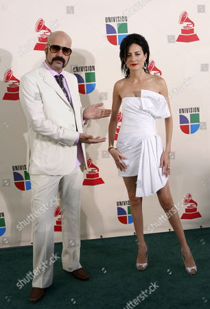 Andres Levin and Cucu Diamantes Arrive For the Latin Grammy Awards in Las Vegas Nevada Usa 08 November 2007