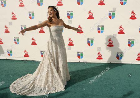 Daniela Mercury of Brazil Arrives For the Latin Grammy Awards in Las Vegas Nevada Usa 08 November 2007