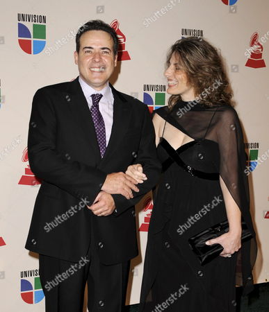 Stock Photo of Entertainer Cesar Evora (l) and His Wife Arrive For the Latin Grammy Awards in Houston Texas Usa 13 November 2008 the Latin Grammy Awards Honor Excellence in the Recording Arts and Sciences Artistic And/or Technical Achievement with the Winners Chosen by the Votes of Their Peers