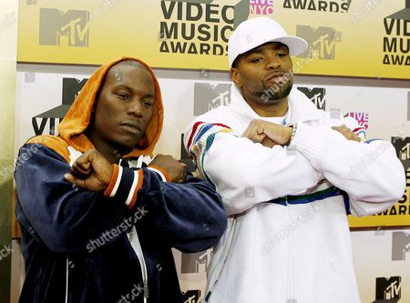Actor Tyrese Gibson (l) and Rapper Ed Lover (r) Arrive On the Red Carpet For the 2006 Mtv Video Music Awards at Radio City Music Hall in New York City Thursday 31 August 2006
