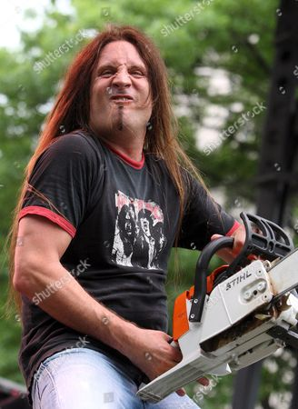 Stock Image of A Picture Dated 25 May 2009 Shows Jesse James Dupree of the Us Band Jackyl Performing at the Rib America Festival in St Louis Missouri Usa