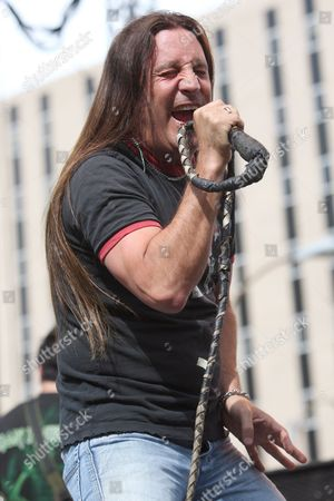 Stock Picture of A Picture Dated 25 May 2009 Shows Jesse James Dupree of the Us Band Jackyl Performing at the Rib America Festival in St Louis Missouri Usa