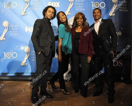 Us Actor and 2008 Image Award Nominee Corbin Bleu (l) Us Actress and Image Award Winner Keke Palmer (2-l) Us Actress and Image Award Winner Regina Taylor (2-r) and Us Actor and 2009 Image Award Nominee Nate Parker (c) Arrive to Announce the Nominations For the 40th Naacp Image Awards at the Beverly Hilton Hotel in Beverly Hills California Usa 07 January 2009 the Naacp Image Awards Honor Excellence in Television Recording and Motion Picture Categories