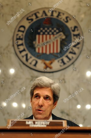 John Kerry Chairman of the Senate Foreign Relations Committee Attends a Confirmation Hearing On the Nomination of Dr Susan E Rice to Be U S Ambassador to the United Nations in the President-elect Barack Obama Administration On Capitol Hill in Washington Dc Usa On 15 January 2009