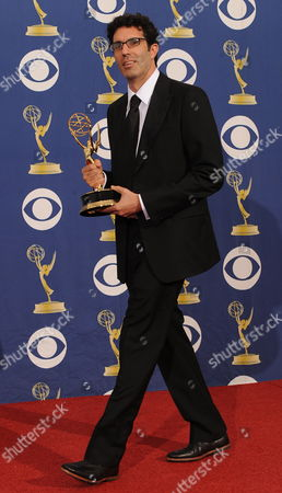 Director Jeffrey Blitz Holds His Award For Outstanding Directing For a Comedy Series For 'The Office' Backstage at the 61st Primetime Emmy Awards at the Nokia Theater in Los Angeles California Usa 20 September 2009 the Primetime Emmy Awards Honors Excellence in Television United States Los Angeles