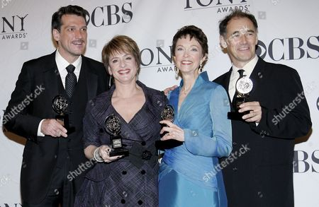 (l-r) Paulo Szot of Brazil Winner of the Tony Award For Best Performance by a Leading Actor in a Musical 'Rodgers & Hammerstein's South Pacific' Patti Lupone of the United States Winner of the Tony Award For Best Performance by a Leading Actress in a Musical 'Gypsy' Deanna Dunagan of the United States Winner of the Tony Award For Best Performance by a Leading Actress in a Play 'August: Osage County' and Mark Rylance of England Winner of the Tony Award For Best Performance by a Leading Actor in a Play 'Boeing-boeing' Appear in the Press Room at the 62nd Annual Tony Awards in New York New York Usa On 15 June 2008