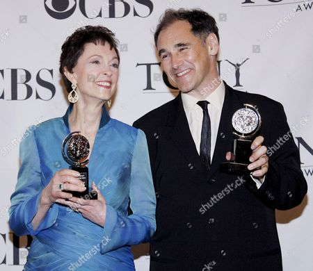 Deanna Dunagan (l) of the United States Winner of the Tony Award For Best Performance by a Leading Actress in a Play 'August: Osage County' and Mark Rylance of England Winner of the Tony Award For Best Performance by a Leading Actor in a Play 'Boeing-boeing' Appear in the Press Room at the 62nd Annual Tony Awards in New York New York Usa On 15 June 2008
