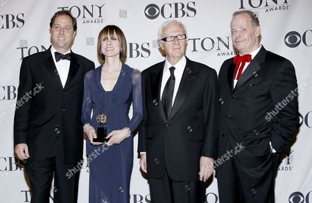 (l-r) Steve Traxler Jean Doumanian Jerry Frankel and Jeffrey Richards the Producers of the Play 'August: Osage County' Pose with the Tony Award For Best Play in the Press Room at the 62nd Annual Tony Awards in New York New York Usa On 15 June 2008