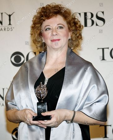 Actress Rondi Reed of the United States Holds the Tony Award For Best Performance by a Featured Actress in a Play August: Osage County in the Press Room at the 62nd Annual Tony Awards in New York New York Usa On 15 June 2008