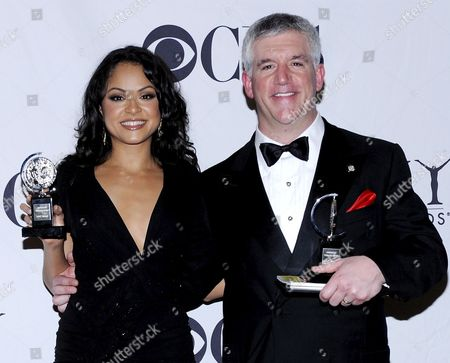 Gregory Jbara (r) and Actress Karen Olivo (l) Both of the Us After Winning Tony Awards in New York New York On 07 June 2009 Olivo Won the 2009 Tony Award For Best Performance by a Featured Actress in a Musical For Her Performance in 'West Side Story' and Jbara Won the Tony Award For Best Performance by a Featured Actor and Actress in a Musical 'Billy Elliot the Musical'