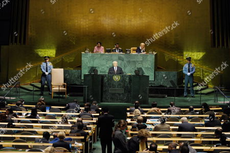 President of Panama Ricardo Alberto Martinelli Berrocal Addresses the 64th General Debate of the United Nations General Assembly at the United Nations Headquarters in New York Usa 24 September 2009