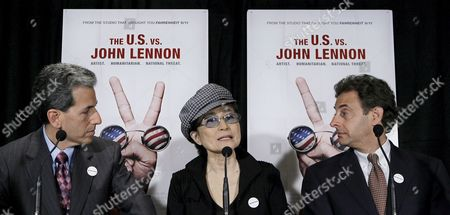 Yoko Ono Lennon (c) Speaks As the Co-writers Directors and Producers David Leaf (l) and John Scheinfeld Listen at a Press Conference to Announce the Release of the New Documentary Film 'The Us Vs John Lennon' in New York City Wednesday 06 September 2006 the Film Focuses On the Years Between 1966 and 1976 When Lennon's Political Activism Was at It's Peek