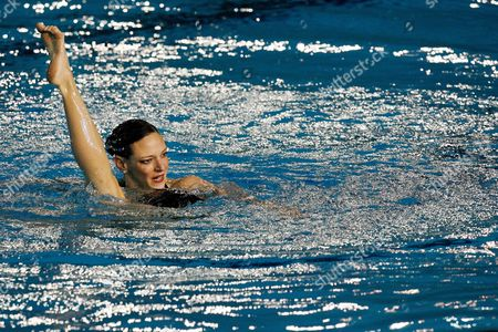 France's Virginie Dedieu Performs During the Women's Synchronized Swimming Solo Free Preliminary Round at the Fina Swimming World Championships in Melbourne Australia Sunday 18 March 2007 Dedieu Finished First in the Round