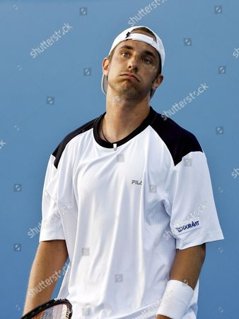 Germany's Denis Gremelmayr Reacts During His Second Round Match Against Usa's Vincent Spadea at the Australian Open in Melbourne Australia On 17 January 2008 Spadea Won 4-6 6-2 6-3 2-6 9-7