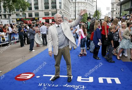 Stock Picture of Ben Burtt Sound Designer Waves to the Media at the Premiere of 'Wall-e' in London Britain 13 July 2008 'Wall-e' an Animated Feature Film by Disney/pixar Went Straight to Number One in the North American Box Office Chart in in It's Opening Weekend