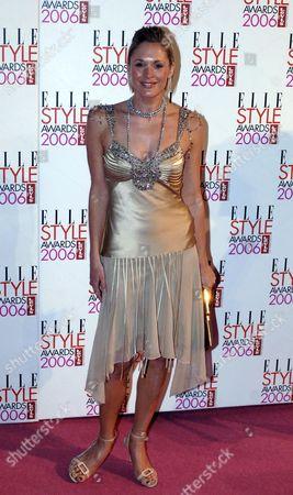 Jenny Falconer Arrives at the Elle Magazine Style Awards 2006 at Spitalfields Market in London's Brick Lane Monday 20 Febuary 2006