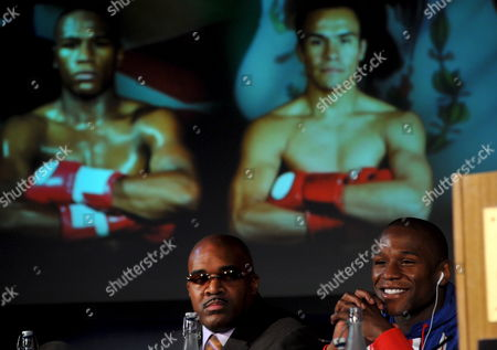 Editorial photo of Britain Floyd Mayweather and Juan Marquez - May 2009