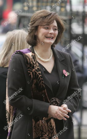 Cherie Blair Arrives at Westminster Abbey in Central London For the Memorial Service For Former Conservative Prime Minister Sir Edward Heath Tuesday 8 November 2005