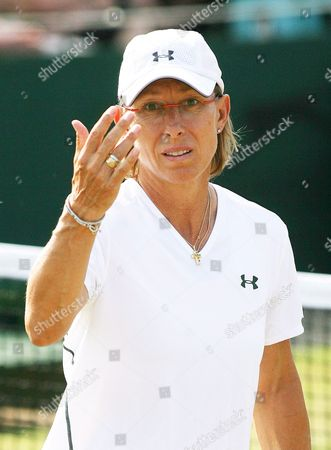 Martina Navratilova During Her Women's Doubles Match with Liezel Huber Against Anastasia Myskina and Elena Likhovtseva For the Wimbledon Championships at the All England Lawn Tennis Club Tuesday 04 July 2006