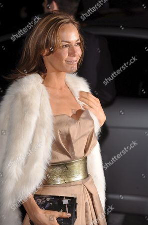 British Model Tara Palmer Tompkinson Arrives For the Vanity Fair Portraits Exhibition Opening Held at the National Portrait Gallery in Central London 11 February 2008