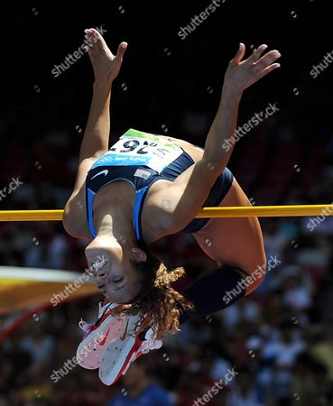 Jackie Johnson of the Us Clears the Bar As She Competes in the Women's Heptathlon High Jump at the Track & Field Events of the Beijing 2008 Olympic Games in the National Stadium Known As the Bird's Nest Beijing China 15 August 2008