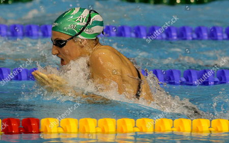 Mirna Jukic of Austria Swims in the 100 M Breaststroke Final at the European Short Course Championships in Rijeka Town Croatia On 14 December 2008
