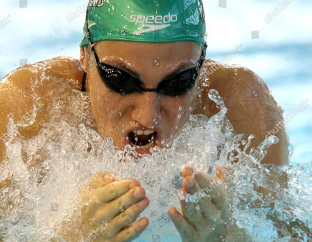Mirna Jukic of Austria Swims Qualification 100 M Breaststroke at the European Short Course Championships in Rijeka Town Croatia On 13 December 2008
