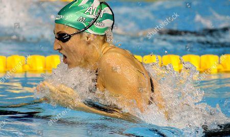 Mirna Jukic of Austria Swims Final 200 M Breaststroke at the European Short Course Championships in Rijeka Town Croatia On 12 December 2008
