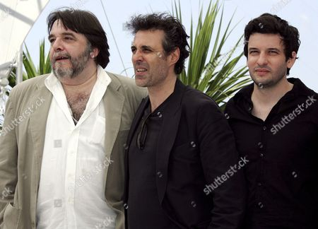 Actor Patrick Descamps French Actor Gilbert Melki and French Actor Eric Caravaca Pose During a Photo Call For Their Film 'La Raison Du Plus Faible' by Belgian Director Lucas Belvaux Running in Competition at the 59th Cannes Film Festival Wednesday 24 May 2006 in Cannes