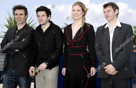 (l-r) French Actor Gilbert Melki French Actor Eric Caravaca German-born Actress Natacha Regnier and Belgian Director Lucas Belvaux Pose During a Photo Call For Their Film 'La Raison Du Plus Faible' Running in Competition at the 59th Cannes Film Festival Wednesday 24 May 2006 in Cannes