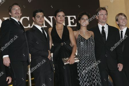 (l-r) Us Actor Ethan Hawke Us Actor Wilmer Valderamma Colombian Actress Catalina Sandino Moreno Mexican Actress Ana Claudia Talacon Us Actor Greg Kinnear and Us Actor Lou Taylor Pucci Arrive at the Palais Des Festivals For the Screening of Their Film 'Fast Food Nation' Running in Competition at the 59th Cannes Film Festival Friday 19 May 2006 in Cannes