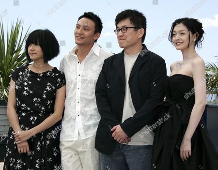 (l-r) Chinese Actress Karena Lam Chinese Actor Chen Chan Chinese Director Chao-pin Su and Chinese Actress Barbie Hsu Pose During a Photo Call For Their Film 'Guisi' Running out of Competition at the 59th Cannes Film Festival Wednesday 24 May 2006 in Cannes