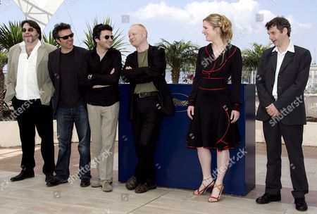 (l-r) Actor Patrick Descamps French Actor Gilbert Melki French Actor Eric Caravaca Actor Claude Semal German-born Actress Natacha Regnier and Belgian Director Lucas Belvaux Pose During a Photo Call For Their Film 'La Raison Du Plus Faible' Running in Competition at the 59th Cannes Film Festival Wednesday 24 May 2006 in Cannes
