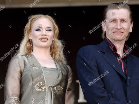 Actress Maria Jarvenhelmi (l) and Actor Ilkka Koivula Arrive at the Palais Des Festivals For the Screening of Their Film 'Laitakaupungin Valot' (lights in the Dusk) by Finnish Director Aki Kaurismaki Running in Competition at the 59th Cannes Film Festival Monday 22 May 2006 in Cannes