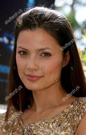 Norwegian Model and Actress Natassia Malthe Poses For Photographers at Hotel Carlton During the 61st Edition of the Cannes Film Festival 23 May 2008 in Cannes France