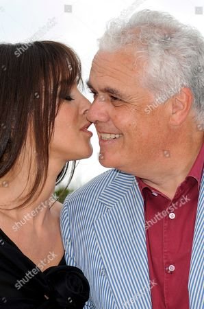 Italian Actress Monica Bellucci (l) and Italian Director Marco Tullio Giordana Pose For Photographers During a Photocall For the Film 'Une Histoire Italienne' Running out of Competition at the 61st Edition of the Cannes Film Festival 19 May 2008 in Cannes France