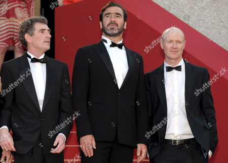 French Actor and Former Football Player Eric Cantona (c) and Steve Evets (l) and Arrives For the Gala Screening of the Film 'Looking For Eric' by Ken Loach Running in Competition in the 62nd Edition of the Cannes Film Festival in Cannes France 18 May 2009