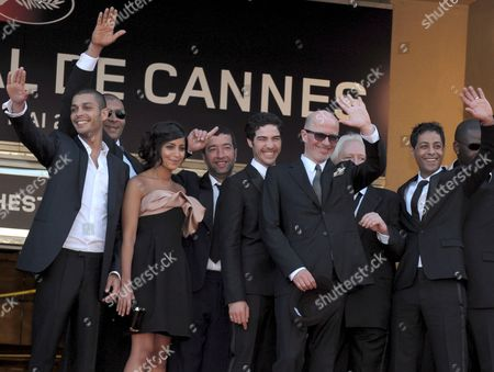 French Director Jacques Audiard (c) and French Actors Tahar Rahim (c Left) Hichem Yacoubi (r) Adel Bencherif (l) and Leila Bekhti (3rd L) Arrive For the Gala Screening of the French/ Italian Film 'Un Prophete' by Jacques Audiard Running in Competition in the 62nd Edition of the Cannes Film Festival in Cannes France 16 May 2009