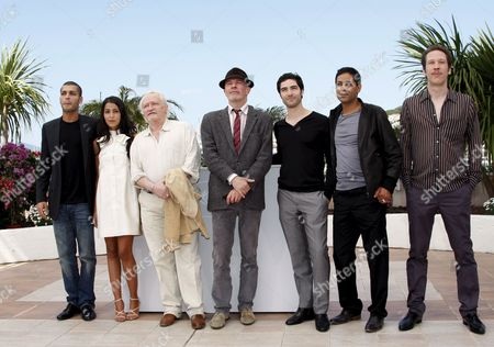 L-r French Actors Adel Bencherif Leila Bekhti Niels Arestrup French Director Jacques Audiard Tahar Rahim Hichem Yacoubi and Reda Kateb Attend a Photocall For the French/italian Film 'Un Prophete' by Jacques Audiard During the 62nd Edition of the Cannes Film Festival in Cannes France 16 May 2009