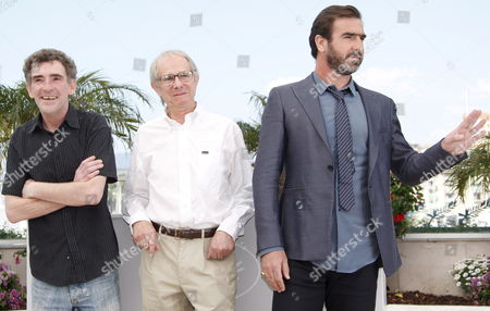 Director Ken Loach (c) Eric Cantona (r) and Steve Evets Attend the Photocall For the Film 'Looking For Eric' Running in Competition in the 62nd Edition of the Cannes Film Festival in Cannes France 18 May 2009