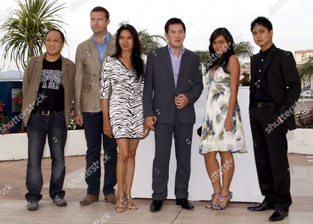 L-r Filipino Producer Ferdinand Lapuz French Producer Didier Costet Filipino Actress Maria Isabel Lopez Filipino Director Brillante Mendoza Actress Mercedes Cabral and Actor Coco Martin Attend the Photocall For the Philippino Film 'Kinatay' by Brilliante Mendoza Running in Competition in the 62nd Edition of the Cannes Film Festival in Cannes France 17 May 2009