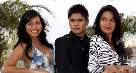 L-r Filipino Actress Maria Isabel Lopez Actor Coco Martin and Actress Mercedes Cabral Attend the Photocall For the Philippino Film 'Kinatay' by Brilliante Mendoza Running in Competition in the 62nd Edition of the Cannes Film Festival in Cannes France 17 May 2009